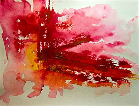 Abstract Art Watercolor Early Dawn Early Dawn