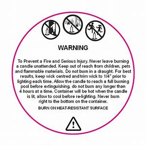 printable warning labels for candles made by creative label With candle warning labels template