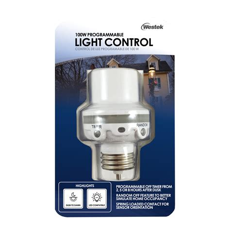 how to program outdoor light timer westek slc6cbc 4 100w programmable in light control