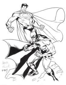 Batman V Superman Coloring Pages