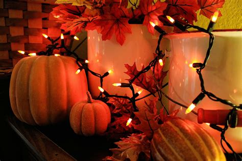 fall string lights my faux fall mantel my abundant