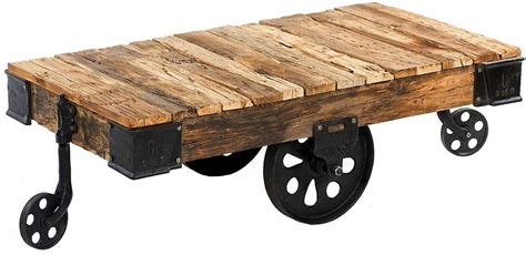 Custom Reproduction Industrial Factory Cart Coffee Table