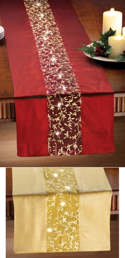 lighted holiday table runner indoor decoration christmas