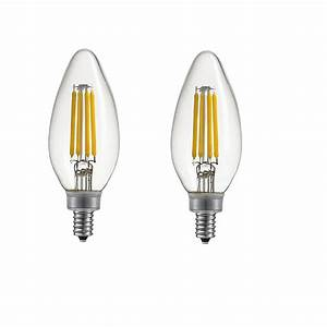 Home Depot Led Light Bulbs Dimmable Globe Electric 40w Equivalent Daylight 5000k B11