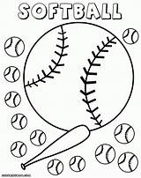 Softball Coloring Pages Field Glove Drawing Diamond Print Getdrawings Baseball Colorings Info sketch template