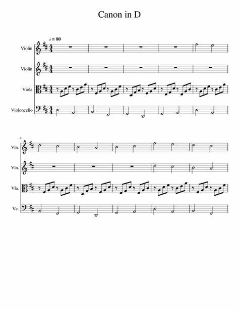 Individual part,piano reduction,score,sheet music single,solo part sheet music by j. Canon in D - EASY VIOLA PART Sheet music for Violin, Cello, Viola (String Quartet) | Musescore.com