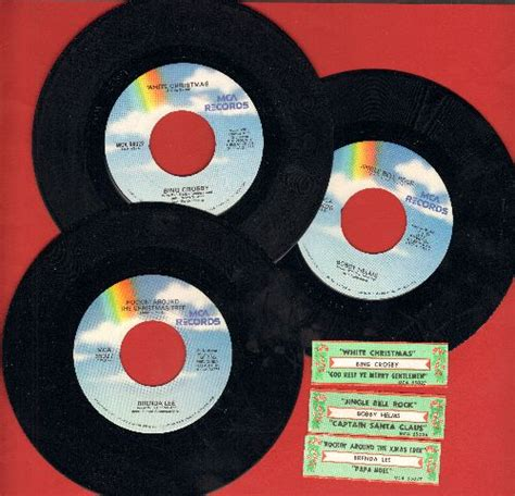 bobby helms white christmas christmas 3 pack reissues with juke box labels includes