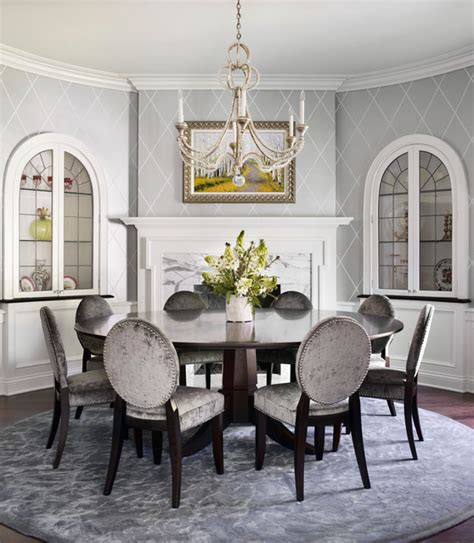 traditional new construction traditional dining room