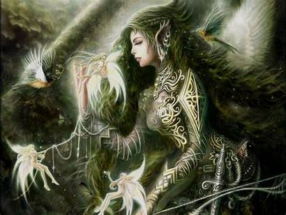 Fairies Gothic Wallpapers Fantasy Dark Fairy Titania