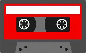 Red Retro Cassette Tape - Free Clip Art