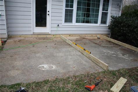 woodwork build wood deck  concrete  plans
