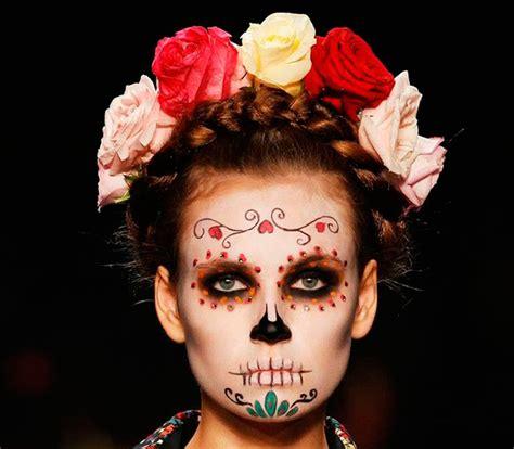 maquillage tete de mort mexicaine