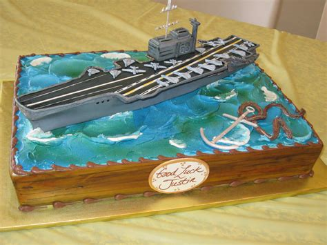 aircraft carrier sheet cake hand sculpted air craft