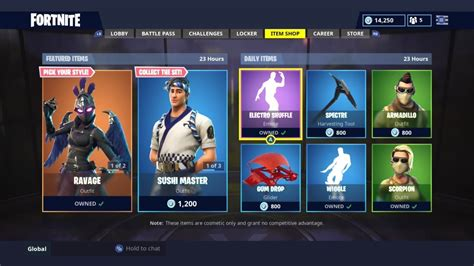 ravage skin daily item shop today fortnite battle