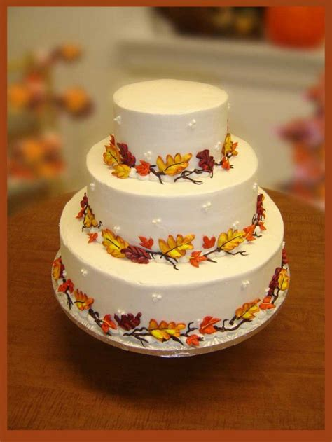 fall wedding cake ideas   love pretty designs