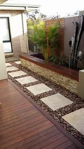 terrasse plus basse que le jardin With maison en pierre ponce 8 8 conseils pour une terrasse melant contemporain et