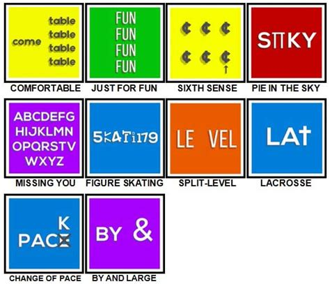 July 16, 2012 in culture, quizzes. 100 Pics Dingbats Level 51-60 Answers | 100 Pics Answers