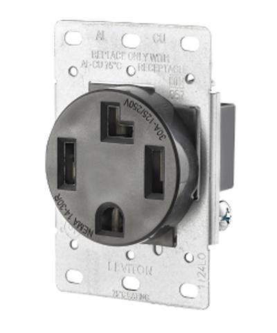 Wire Amp Flush Mount Dryer Receptacle