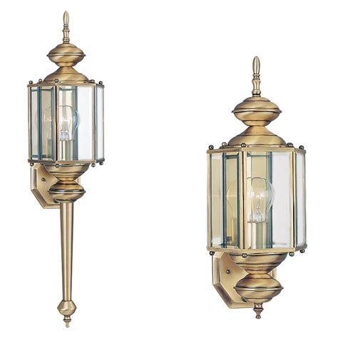 light outdoor wall lanternantique brass