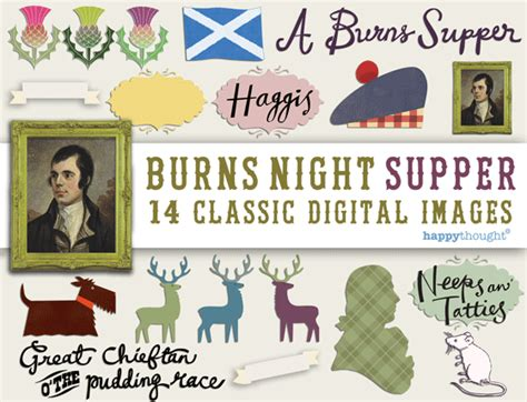 Burns Supper Menu Template by Improve Your Designs High Quality Burns Image Artwork