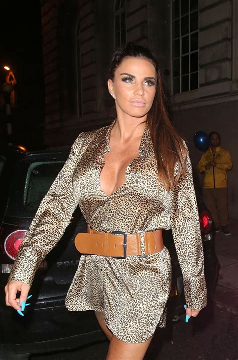 The tv star, 43, was taken to hospital as police were called. KATIE PRICE at Acapulco Nightclub in Halifax 07/28/2018 - HawtCelebs
