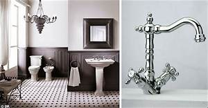 meuble salle de bain retro great salle de bain ancienne With carrelage adhesif salle de bain avec lampe led table
