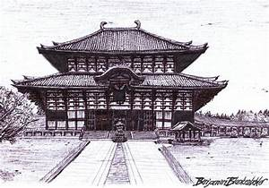 Image Gallery japanese buddhist temples sketch