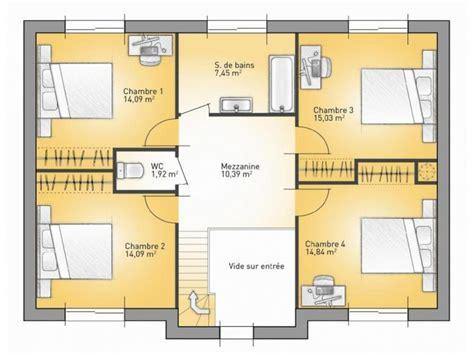 plan maison 4 chambres suite parentale plans de maison 1er 233 tage du mod 232 le city maison