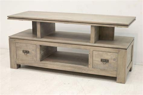 meuble bas cuisine blanc meuble tv de rangement pièce en bois de la