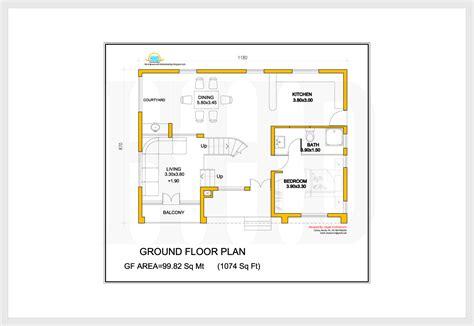 ground floor plan 2172 sq villa 3d view and floor plan kerala house