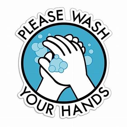 Wash Hands Please Sticker Decal Coronavirus Covid