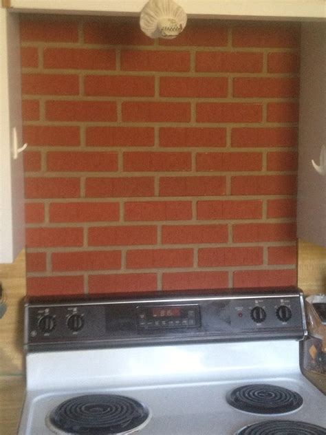 faux brick kitchen backsplash cook kitchen backsplash creative faux panels