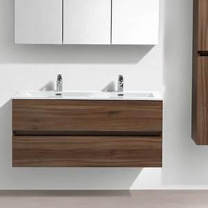meuble salle de bain design double vasque siena largeur With salle de bain design avec meuble sous lavabo sans vasque