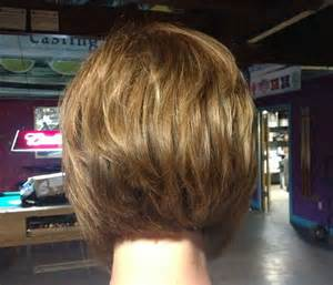 Short Stacked Hairstyles Back View Women