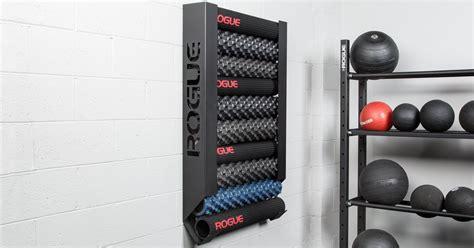 rogue wall mount foam roller storage rogue fitness