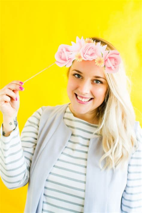 printable photo booth flower crown props
