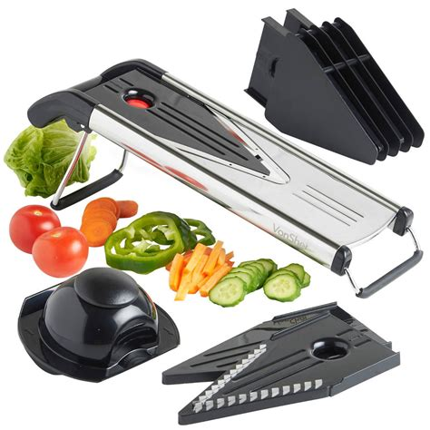 mandoline cuisine vonshef v shaped blade mandoline fruit vegetable slicer