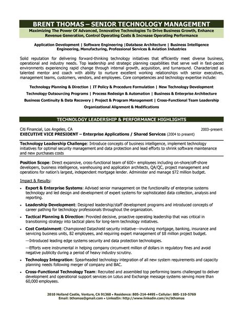 technology executive resume abby locke