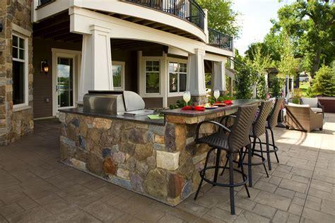Kitchen And Outdoor Space Wooden Design Interior