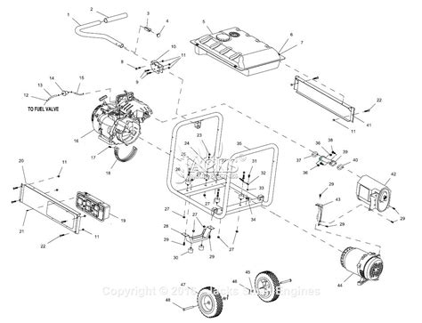 generac 005939 gp5500 parts diagram for assembly
