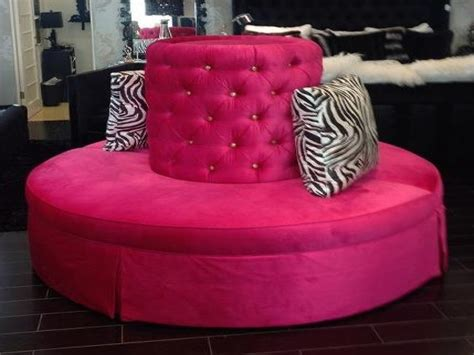 upholstered ottomans target pink tufted