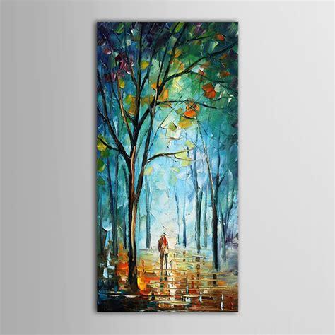 peinture 224 l huile abstraite couteau moderne paysage peinture 224 l huile couples promener sur