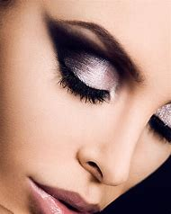 Black and Silver Dramatic Eye Makeup