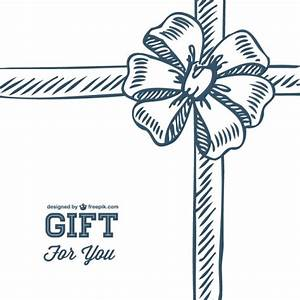 Doodle gift bow template Vector | Free Download