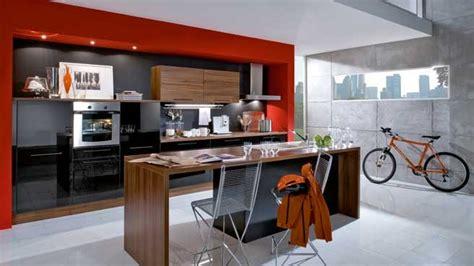 mur noir cuisine cuisine noir mur
