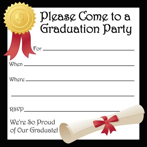 invitation party templates graduation party invitations party ideas