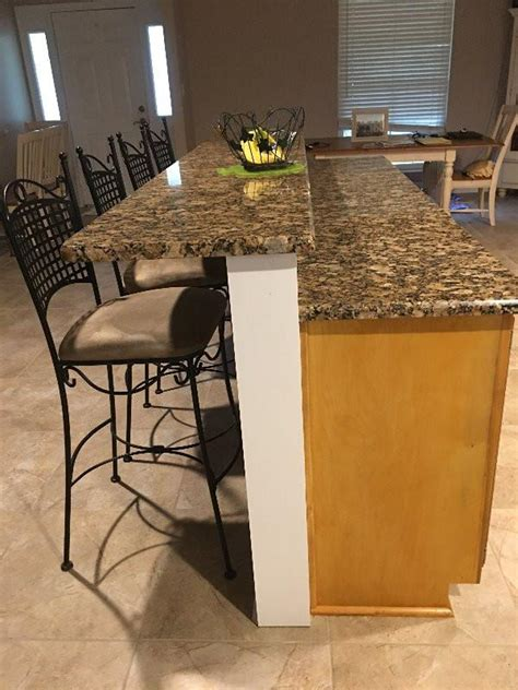 Alternative Kitchen Cabinet Ideas - how high should a knee wall be for granite countertops the original granite bracket