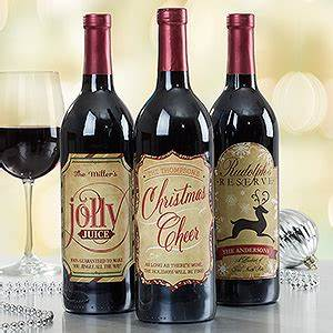 personalized merry christmas wine bottle labels With how to make custom labels for wine bottles