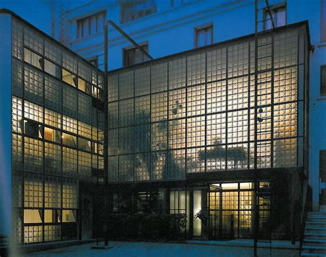 the maison de verre by chareau a of glass in a parisian backyard