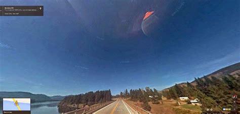 ufo  alien head sticking   google earth map